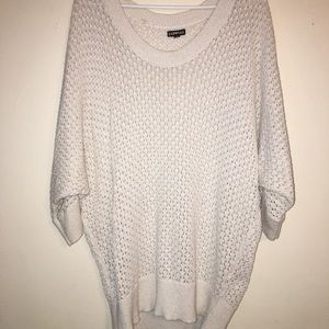 Express oversized tunic sweater .